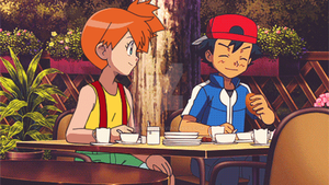 Ash and misty pokeshipping xy spoiler!!!!!!!! gif by CieloKity
