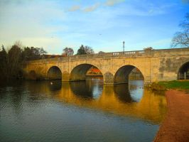 Bridge Over the Thames Wallingford England by MarmaladePrints