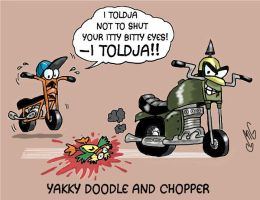 Yakky Doodle and Chopper by Smigliano