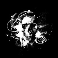 skull splatter by ARTDESIGNS78570
