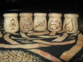Elemental Candle Holders WIP by WillowForrestall