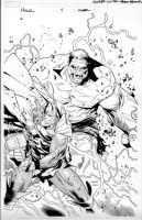 hulk 5 variant cover by MarkMorales