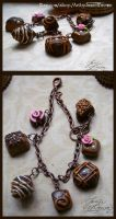Chocolates Charm Bracelet by MissJamieBrown