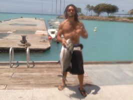 spearing 'ulua by hawaiianstile