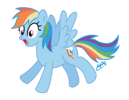 Surprised Rainbow Dash by OEmilyThePenguinO