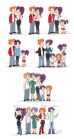 Fry and Leela - Through Time by MissFuturama