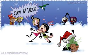 How The Zim Stole Christmas by ailil