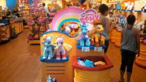 Applejack and Trixie at Build-A-Bear by BigMac1212