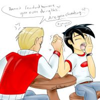 arm wrestling by Feniiku