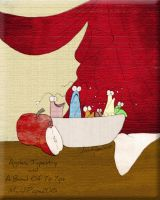 Apples, Tapestry and a Bowl of Yip Yips by MandiPope