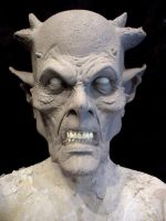 Demon Mask Sculpture by MonsterAsylum