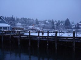 The Long Wharf in Winter by mirengraphics