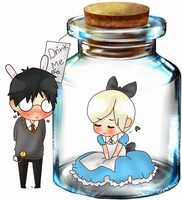 Drarry - Alice in a Bottle by Cremebunny