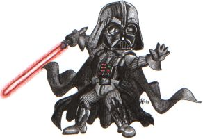 Darth Vader Chibi by kyphoscoliosis