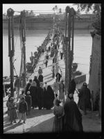 Iraqis cross over the Tigris in Baghdad, 1932 by YamaLama1986