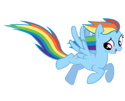 A Flying Rainbow Dash by jonnydash