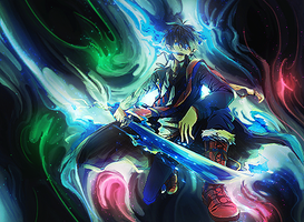 Rin Okumura Smudge Tag 2 (Ao No Exorcist) by NigglezNGigglez