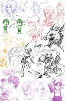 Massive Sketch Dump by Galefaux