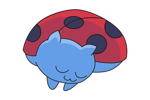 Sleeping Catbug by XsanaanX