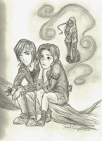 Gale and Katniss by MercureAuChrome