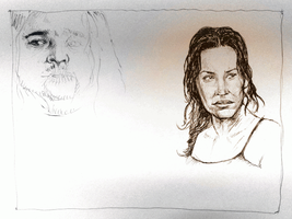Lost - WIP - Kate, Hurley by karthik82