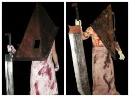 Silent Hill Pyramid Head costumes by Rising-Darkness-Cos