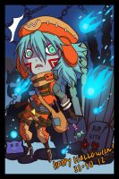 Azure Halloween: KITE by silentclearlite