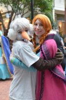 Anna and Olaf by RougeLeaderRed