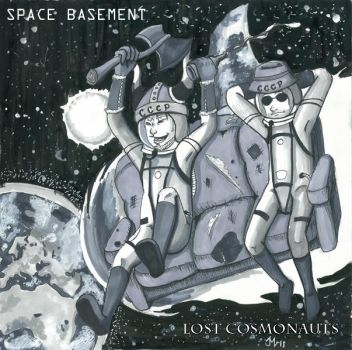 Lost Cosmonauts album cover by scribbits