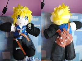 Cloud Strife plushie by martek97