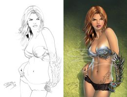 witchblade line to color by sanjun