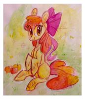 apple bloom by spacekitsch