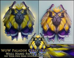WoW Class Crest: Paladin by StrayaObscura
