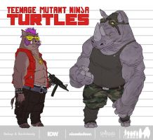 Bebop and Rocksteady_Designs by Santolouco