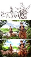 Rivaere -- Princess Mononoke Crossover by aphin123