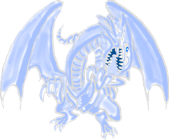 Blue-Eyes White Dragon New Design Style by AESD
