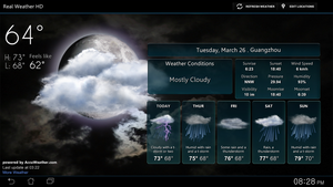 Real Weather HD FULL SCREEN V2 for xwidget by jimking