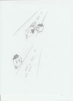 Flattened on the road Pt 2 by MetaKnight2716