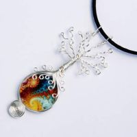 Fractal Wire Wrap Tree of Life by Create-A-Pendant