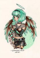 Angel of Chocolate Chip Mint Ice Cream by KimiCookie