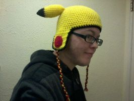 Pika hat with earflaps by xXpandaphileXx