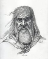 Odin Sketch by Wolverat