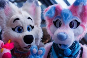 Mika and Nami @ Eurofurence21 by nlorier