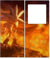 Silver the Hedgehog Ipod skin2 by BlazingStorm7