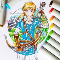 Link - Breath of the Wild by matyosandon
