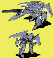 VF-18 Metal Siren (gerwalk mode) by Grebo-Guru