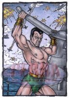 Namor Sketch Card by tonyperna