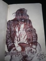 Kurt Cobain playing the guitar by Paula94Kurt