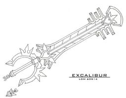 Excalibur Keyblade by Lorddragonmaster
