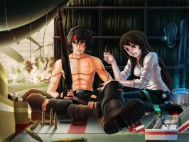 you Live for me, I die for you[ ryu black contest] by garitoaga2006